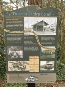 Fanno Creek trail sign - Ticket to Garden Home