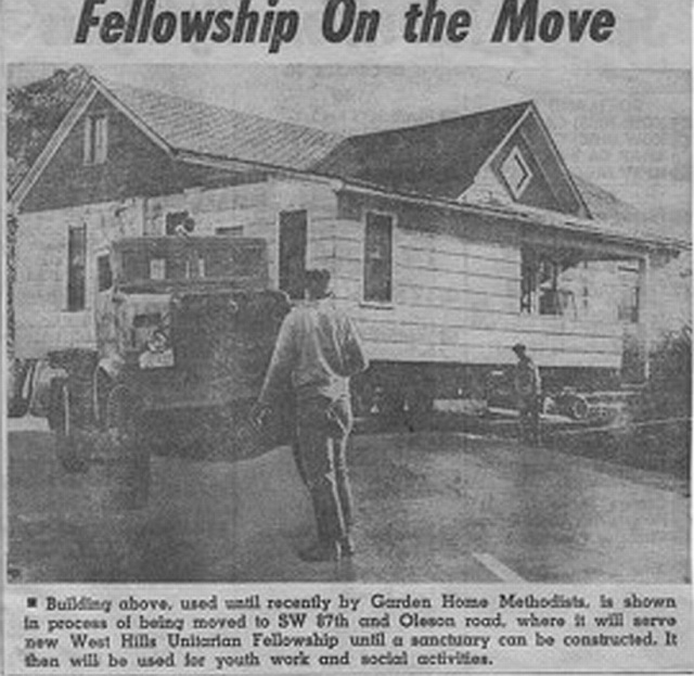 Moving the Fraley house.
