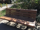 Fredrickson memorial bench - at SW 78th and the Fanno Creek Trail, near the Fredrickson Wormwood Manor