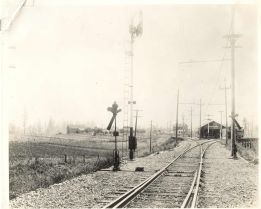 Early 1900's Garden Home Train Depot (view from the east).