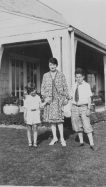 Ruth Frank with sons, Gerry and Dick