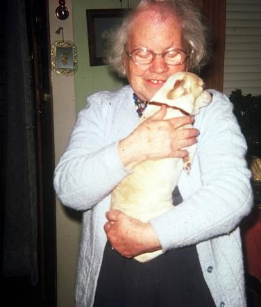 Gertrude Jones and dog