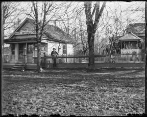 1890 Post Office and store, Garden Home, Oregon. Mr Nichols, Postmaster.