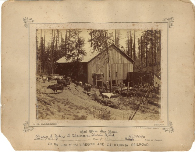 John A. Slavin barn on Slavin Road. Courtesy Mary Helen Himes Koeber. See post.