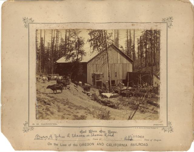 John A. Slavin barn on Slavin Road. Courtesy Mary Helen Himes Koeber. See post.