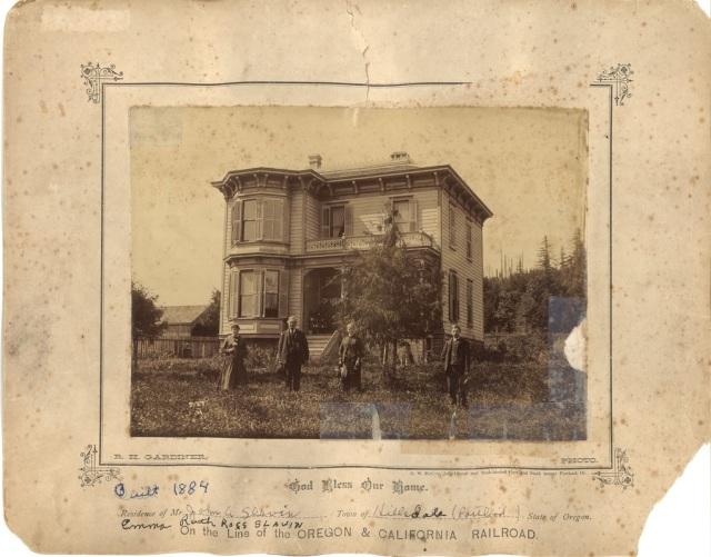 1884 residence of John and Emma Ruth Ross Slavin, Hillsdale. Courtesy Mary Helen Himes Koeber. See post.