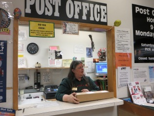 Lana Smith, Postmaster of the Garden Home Post Office, 2013.