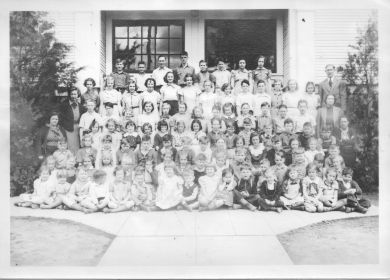 Late 1930s Garden Home School student body