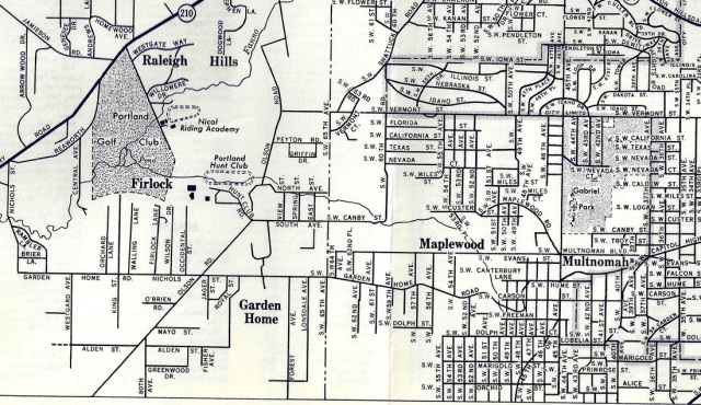 Richfield Gas Station map, circa 1940's