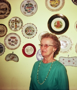 Marie Mistler and her plate collection