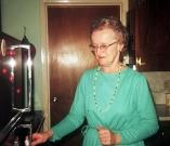 Marie Mistler in kitchen