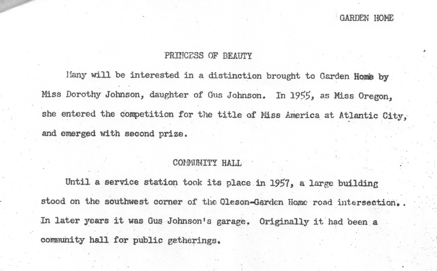 Ruth Martin history of Garden Home, page 3