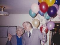 circa 1980's United Methodist Church Rev. Gary Ross and member Thelma Shirley