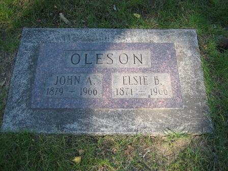 Crescent Grove Cemetery tombstone