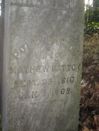 Polly Patton, Wife of Mathew Patton. Courtesy Elaine Shreve.