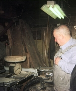Phil Mistler in his shop