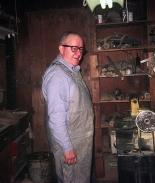Phil Mistler in shop