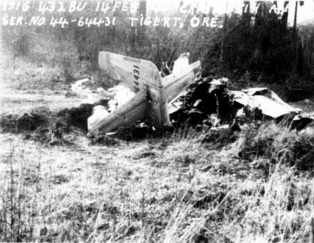 1946 Fighter plane crash in Tigard, wreckage