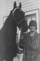 Ruth Frank with prize show horse
