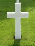 Grave marker of Lt. Robert H. Strong in the American Cemetary, Margraten, Netherlands