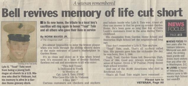 Tate newspaper article, part 1