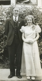 May 18, 1939, Garden Home School graduation. Prinicipal Edward T.Taggart and Vlasta Becvar.