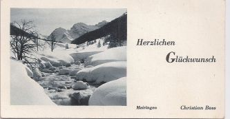 Good luck card from Mierngen, Switzerland