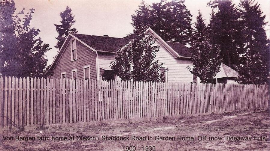 Von Bergen farm house