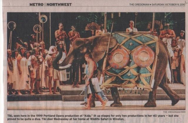 Tiki the Elephant (courtesy The Oregonian)