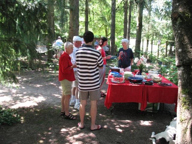 Neighborhood July 4th picnic at Olson home