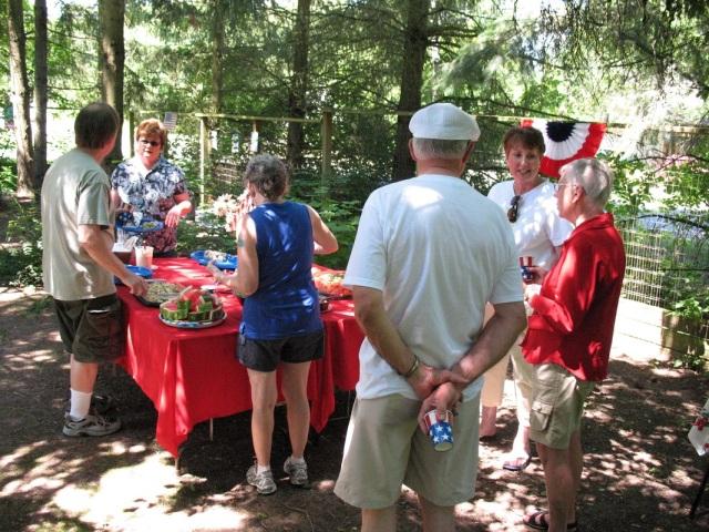 July 4th, neighborhood picnic