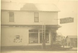 White store after fire