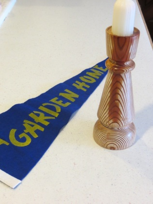 Pennant, candle holder