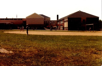 GHS 1982 Last Day - field day - back of building