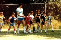 1982 Final day of Garden Home School - Field Day with Rick Evers and kids