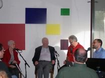 Bob, Phyllis Rummer, Stan Houseman, Dave Miller/host