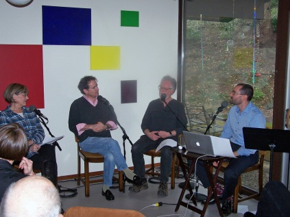 Peggy Moretti, David Wolski, Jim Brown, Dave Miller/host