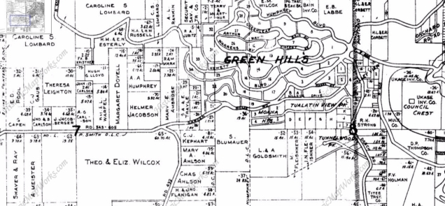 1927 Metsker's Atlas of Multnomah County, page 20.