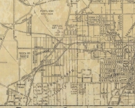 1946 Pittmon street map city of Portland detail