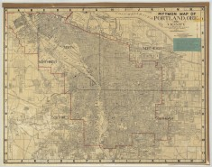 1946 Pittmon street map city of Portland