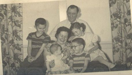 Arndt family: Otto, Mary, Tom Donna Jim Judy