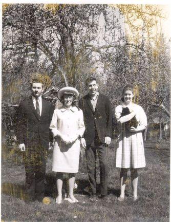 Tom, Donna, Jim, Judy Arndt all dressed up