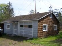 Glenn Steele's garage and rock polishing shop building