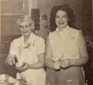 Isolda Steele (left) with Mrs. Norris (right) at the Garden Home School