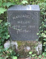 Margaret Lovisa Welch headstone, 1838 - 1919