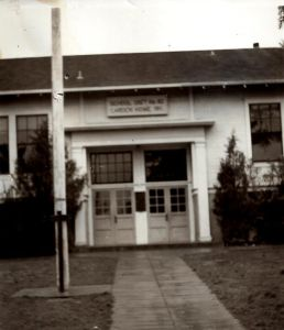 Front doors of School Dist. No. 92 Garden Home, circa 1940s