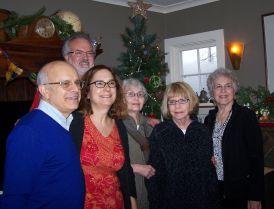 (L to R) Matt Miner, Stan Houseman, Sasha Kaplan, Virginia Vanture, Nathalie Darcy, Elaine Shreve