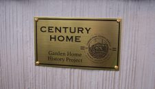 Century Home plaque on Kaplan Miner home
