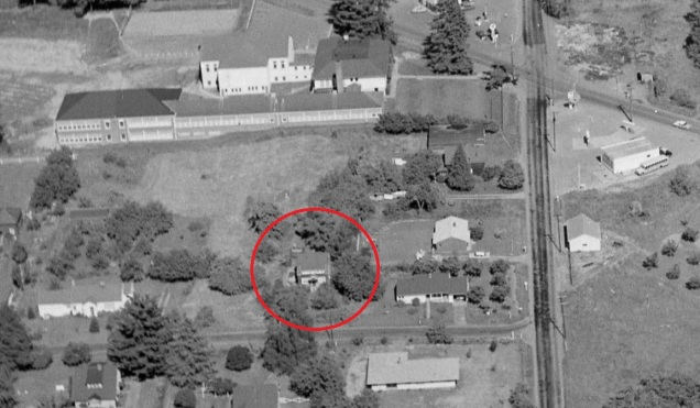 1957 aerial view - Kaplan Miner Century Home on SW 76th Ave.