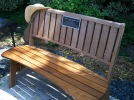 Terry Moore memorial bench at SW 80th Ave and SW Garden Home Rd